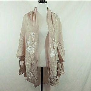 Merona  tan floral kimono / wrap / shall